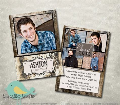 Graduation Card Template Photoshop by Graduation Announcement Photoshop Template Senior Graduation