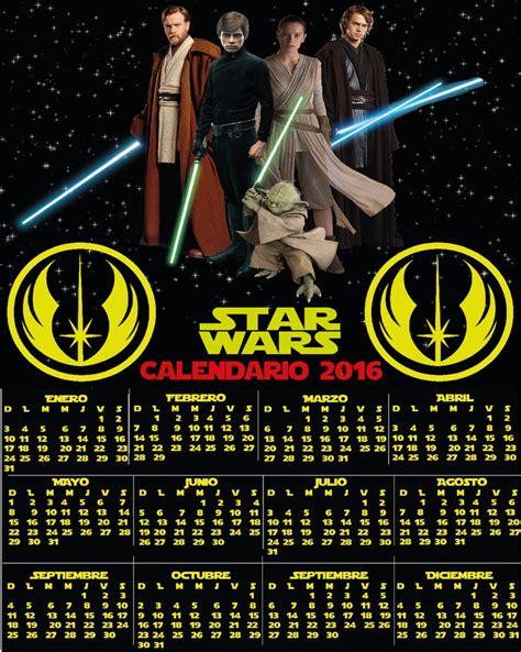 I Calendario 2016 Da Stare Wars Jedis Calendar 2016 By Electromariachi On Deviantart