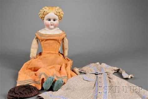parian shoulder head doll parian shoulder doll sale number 2447 lot number