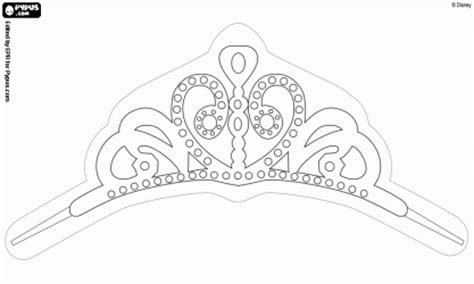 sofia the first printable crown sketch coloring page