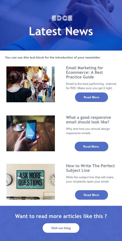 newsletter templates email standout