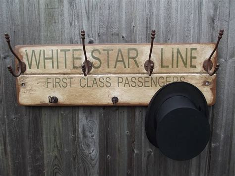 woods vintage home interiors white star line hook board by woods vintage home interiors