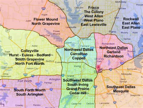 dfw county map dallas real estate market and trends