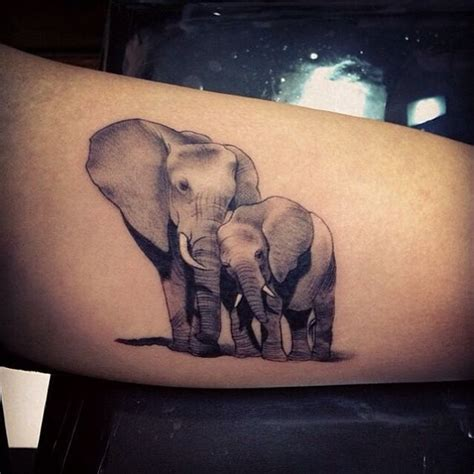 fall in love with an elephant tattoo today