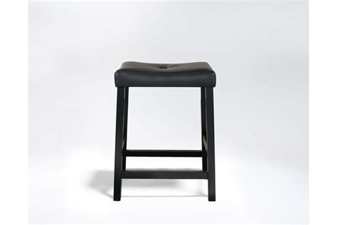 Saddle Seat Bar Stools 24 by Upholstered Saddle Seat Bar Stool In Black With 24 Inch