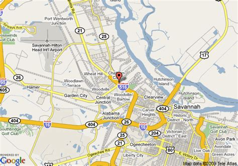 Garden City Ga by Map Of Baymont Inn Suites Garden City