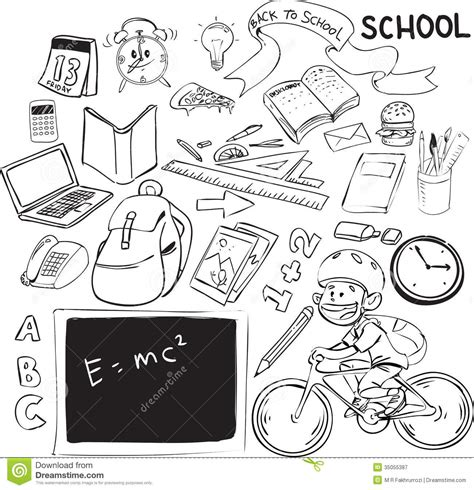 doodle theme free back to school royalty free stock photography image