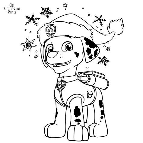 Paw Patrol Marshall Coloring Page paw patrol coloring pages marshall get