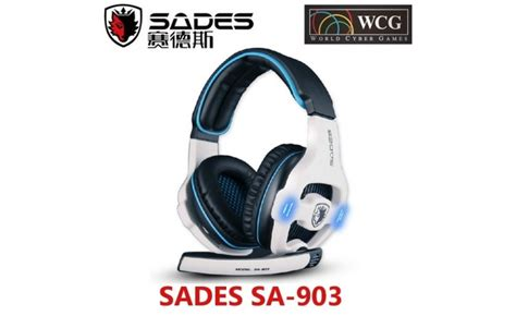 Headset Wolfang sades wolfang sa 903 headset gaming biru usb 2 0 headphone with microphone hitam biru