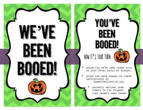 free printable you ve been booed sign halloween printables archives paper trail design