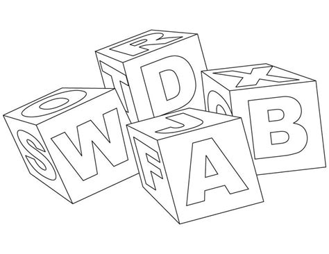 Block Letters Coloring Pages Coloring Home Block Coloring Pages