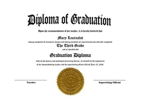 homeschooling diplomas quick easy template for home