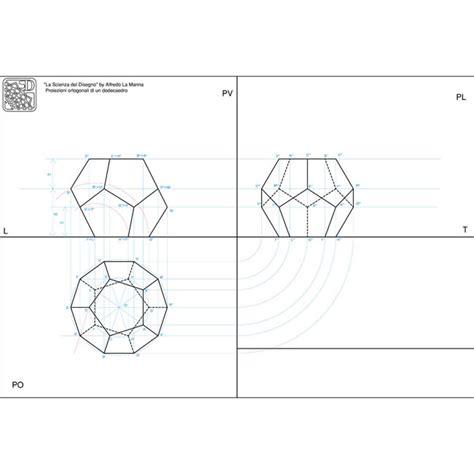 proiezioni ortogonali lettere proiezioni ortogonali di un dodecaedro
