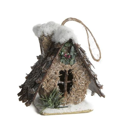 rustic christmas birdhouse ornament christmas ornaments