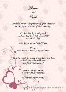 format of wedding invitation card in my invitation