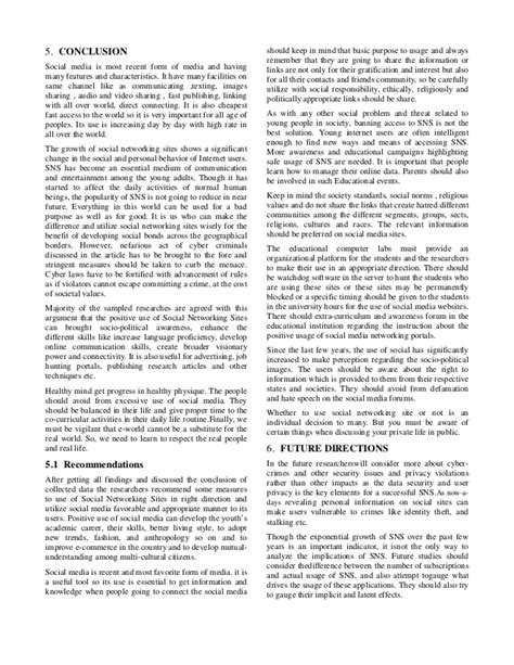 Social Media And Youth Culture Essay by Survey Paper Social Networking And Its Impact On Youth Culture
