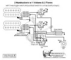 guitar wiring diagram 2 humbuckers 3 way toggle switch 2 volumes 2 tones individual coil taps