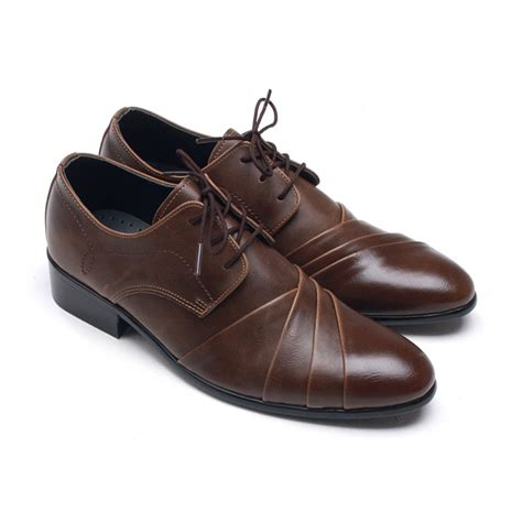 brown mens dress shoes mens wrinkles lace up dress shoes