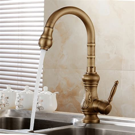 antique bronze kitchen faucet antique brass kitchen faucet bronze finish water tap kitchen swivel spout vanity sink mixer tap