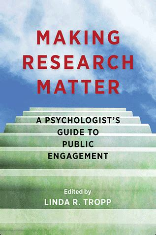 research matter a psychologist s guide to