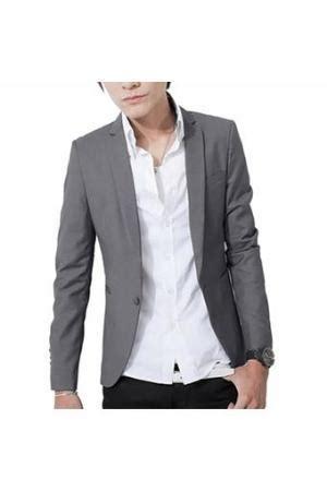 Blazer Vanilla Blazer Pria Slimfit grey blazer great details mens fashion