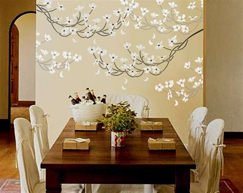 floral wall stencils for bedrooms stencil for walls flowering dogwood branch large reusable