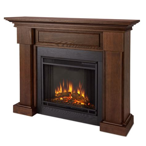 led fireplace heater hillcrest led electric heater fireplace in chestnut oak