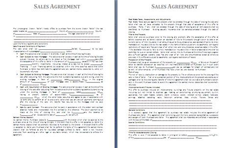sales agreement template  agreementstemplatesorg