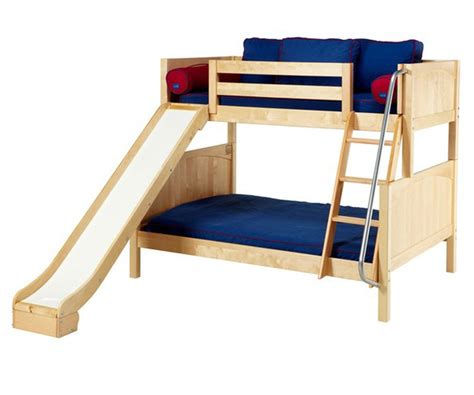 full size mattress for bunk bed maxtrix slick twin over full bunk bed with slide bed