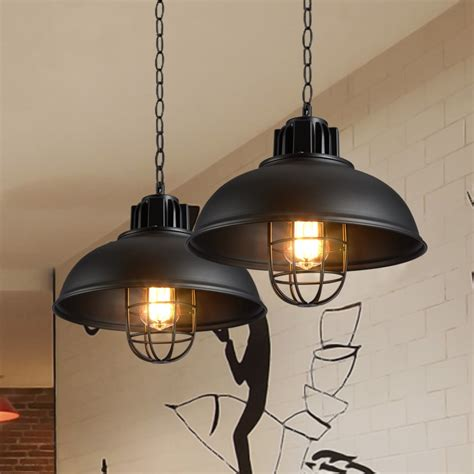 retro pendant lights industrial cage kerosene lamp