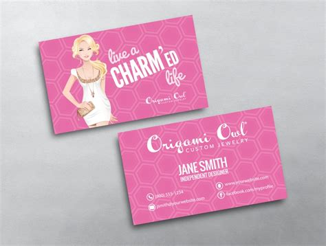 origami card template origami owl business card 11