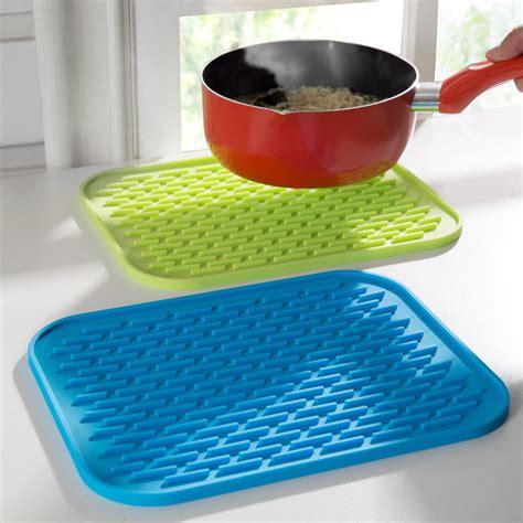 mat silicone kitchen trivet pot tray straightener heat non