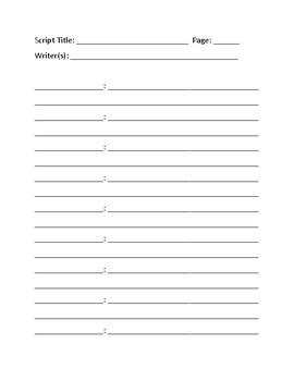 Blank Script Template Commercial Script Template Template Dialogue List Template