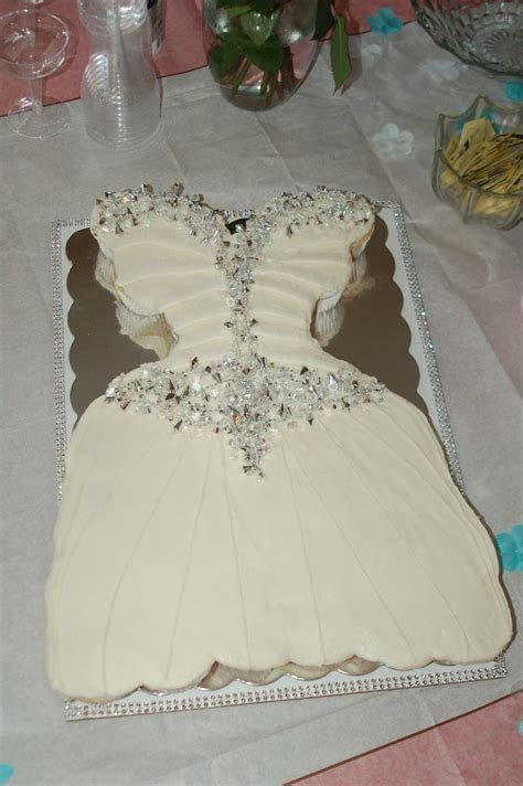 Cupcake Wedding Dress Cake That Matches Brides Dress