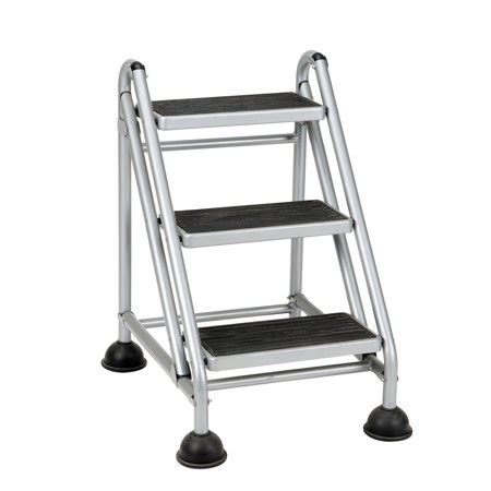 Rolling Step Stool Walmart by Cosco Rolling Commercial Step Stool 3 Step 26 3 5 Spread
