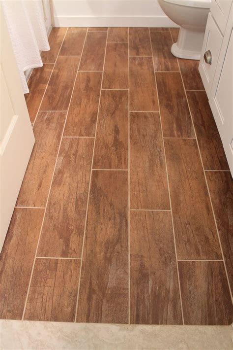 faux wood floors faux wood floor tile small bathroom re do