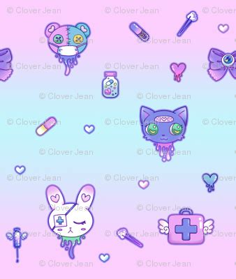 cute medical pattern cute hospital medical pattern pink and blue fabric