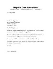 Business Letter News Sle Business Letter Bad News Sle Business Letter