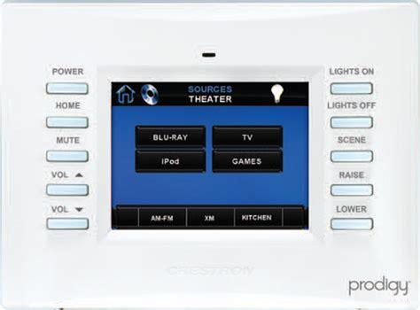crestron prodigy home system zigbee wireless