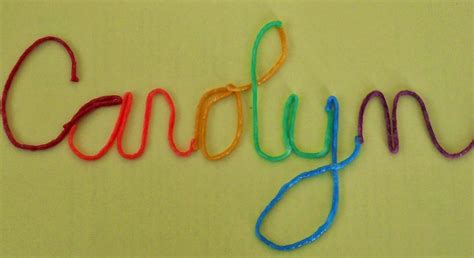 Using String - the ot is in cursive learning to write all again