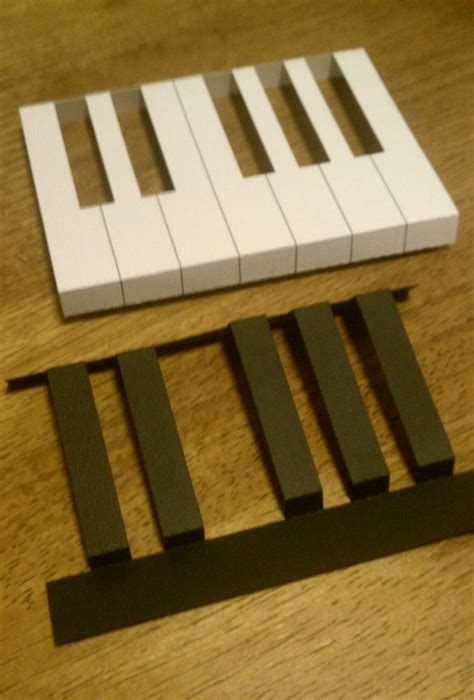 piano template card pop up pianos cardsies