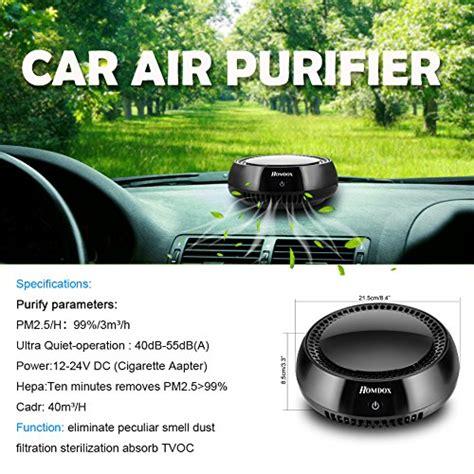 homdox car air purifiertrue hepa travel usb auto air