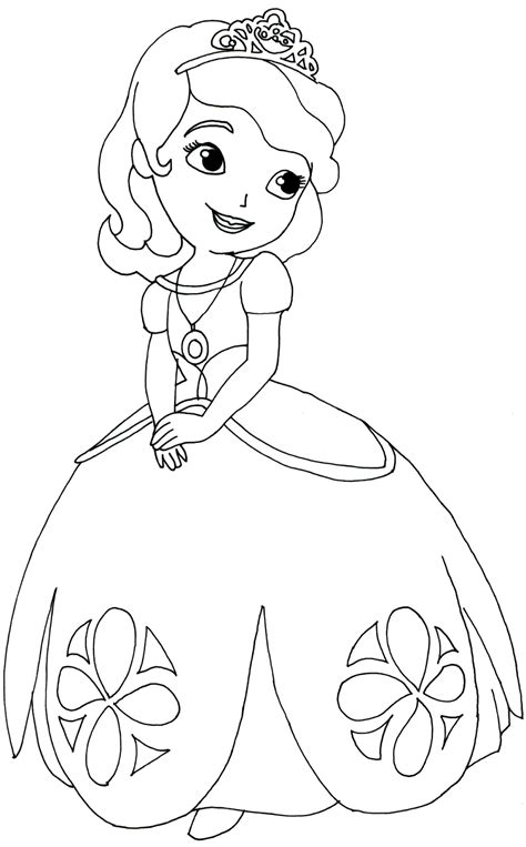 princess sofia coloring page free sofia the first sofia the first coloring pages to print