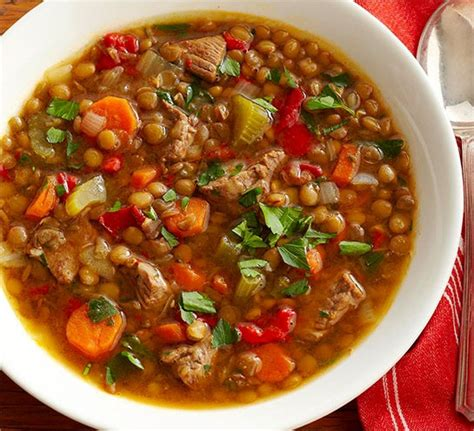 easy cooker recipes sausage lentil ken s easy lentil soup recipe with beef the cookingpot