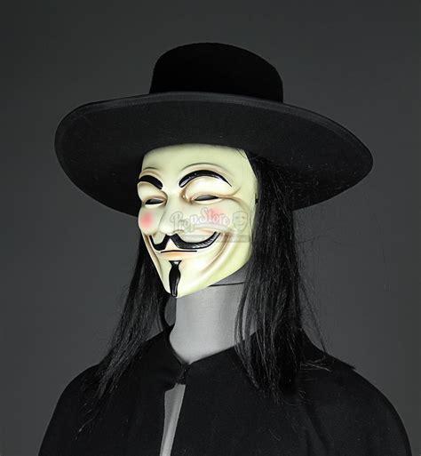 Wig V For Vendetta Bahan Sintetis v for vendetta 2005 quot v quot mask hat wig and cloak current price 163 1700