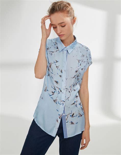 Japanese Style Blouse blue japanese style blouse ss2018 roberto verino