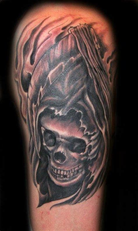 black and grey skull tattoo designs black and grey skull tattoo by danny warner tattoonow