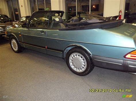 saab convertible green 1991 beryl green saab 900 turbo convertible 61457916