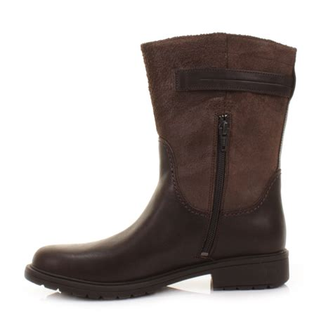 ladies brown leather biker boots womens camper 1900 land brown leather biker casual ankle