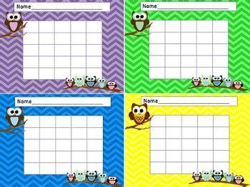printable owl reward chart owl themed classroom reward charts for classroom decor and